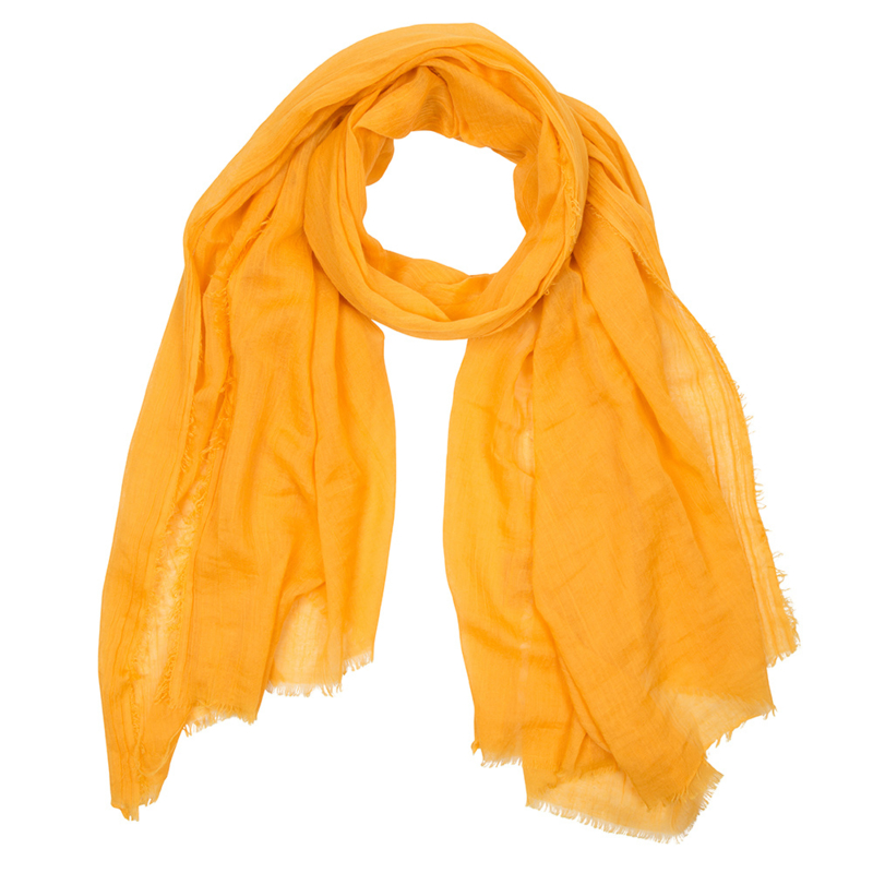 Scarf with a message  yellow: JOY OF LIFE
