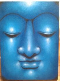 Boeddha schilderij 40 x 30 cm