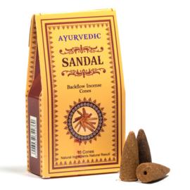 Ayurvedische Sandelhout backflow kegeltjes ( 10 stuks )