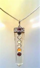 Chakra punthanger Bergkristal  5 cm