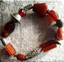Carneool/Agaat armband