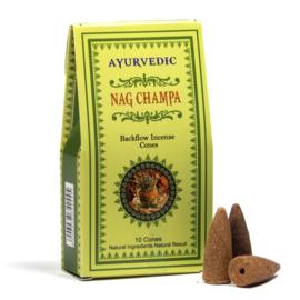 Ayurvedische Nag Champa backflow kegeltjes ( 10 stuks )
