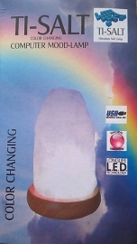 Usb Zoutlamp ( Color Changing )