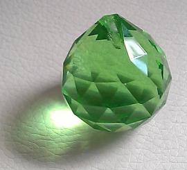 Feng Shui Kristal bol 3 cm Groen