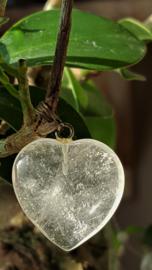 Bergkristal Hart hanger 3 cm