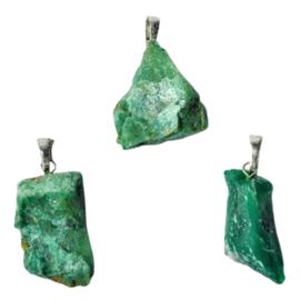 Jadeiet ( Jade ) ruwe hanger +- 2,5 cm