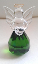 Feng Shui Kristal-Engel bolvorm Groen