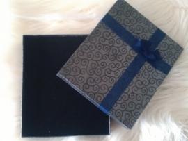 Marineblauw geschenk-/sieradendoos