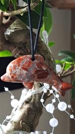 Jaspis Breccie Dolfijn hanger 5 cm