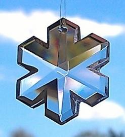 Feng Shui Regenboogkristal Sneeuwvlok 3,5 cm