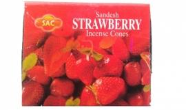 Strawberry Kegeltjes ( 10 stuks )