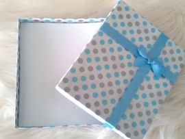 Lichtblauw geschenk-/sieradendoos