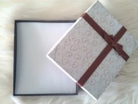 Bordeaux Rood geschenk-/sieradendoos