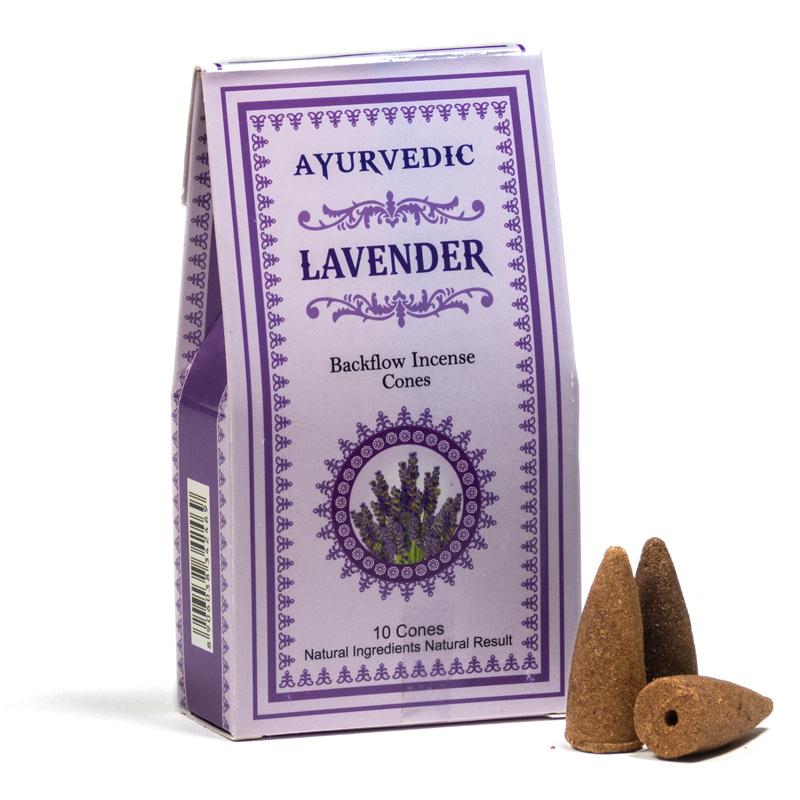 Ayurvedische Lavendel backflow kegeltjes ( 10 stuks )