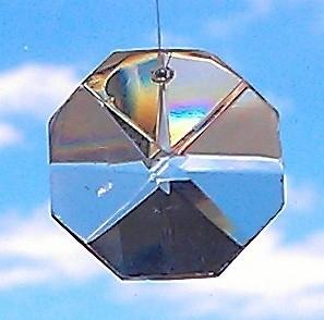Feng Shui Regenboogkristal Octagon 3,2 cm