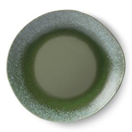 70s ceramics: dinner plate, green HK living