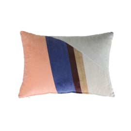 velvet patch cushion multicolour b (35x50) HK Living