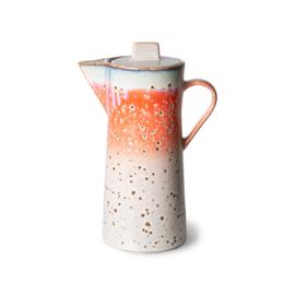 70s ceramics: coffee pot, asteroids