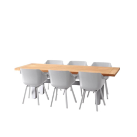 Tuinset Teaktafel met stoelen Sophie