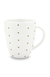 Mug with Ear White Golden Hearts 250ml