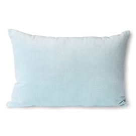 velvet cushion ice blue (40x60)  HK Living