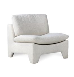 Retro fauteuil bouclé Cream HK Living