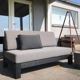 Loungebank Black DutchHome 90x180cm