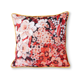 printed floral cushion coloured (50x50) HK Living