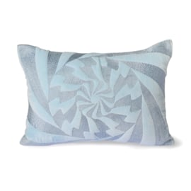 graphic embroidered cushion ice blue (35x50) HK Living