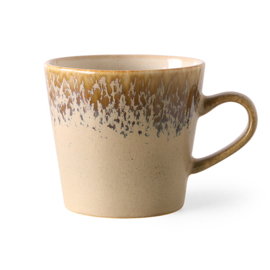 70s ceramics: cappuccino mug, bark