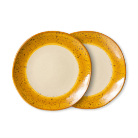 70s ceramics: side plates, autumn (set of 2) 7074