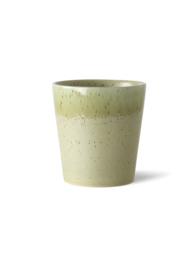 70s ceramics: coffee mug, pistachio HK Living