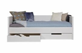 Jade bedbank wit ongeborsteld (excl lade) [fsc]