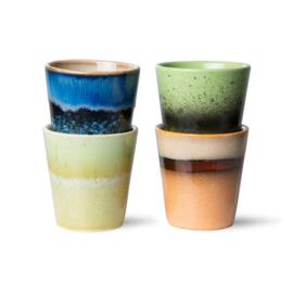 70s ceramics: ristretto mugs (set of 4) 7064