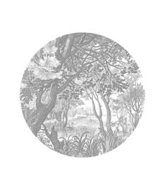 Behangcirkel Engraved Landscapes, ø 142.5 cm