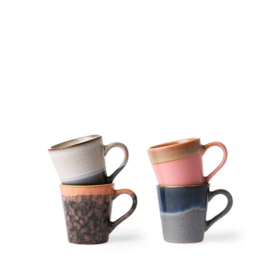 70's espressokopje set van 4 HK Living