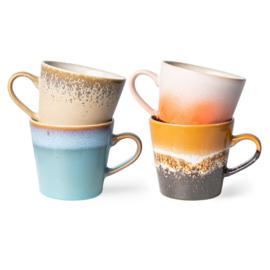 70s ceramics: cappuccino mugs (set of 4) 7049
