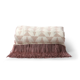 jacquard weave throw white/nude (130x170) HK Living
