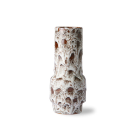ceramic retro vase lava white HK Living