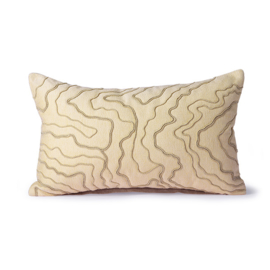 cream cushion with stitched lines (30x50) HK Living