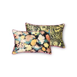doris for hkliving: printed satin cushion retro (25x40)