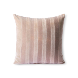 striped velvet cushion beige/liver (45x45) HK Living