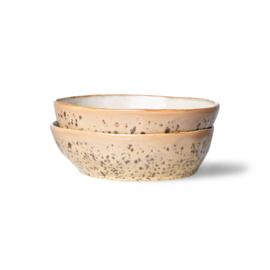 70s ceramics: pasta bowls, tiger (set of 2)