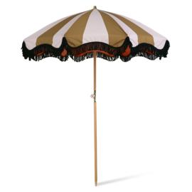 beach umbrella classic nude/mustard