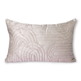quilted cushion nude/rosé (40x60) HK Living