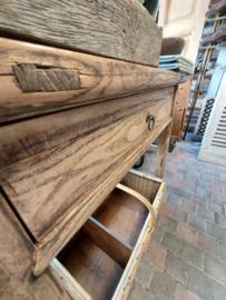 Sidetable / Wandtafel met lade oudhout