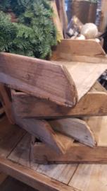 oud houten decoratieve rijstscheppen