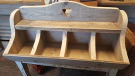 Gruttersbak van steigerhout , 4 vaks br 80 cm