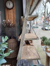 Rek staand schuin tegen wand Hout/Metaal beton finish