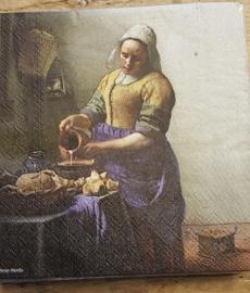 """Johannes Vermeer servetten """" Melkmeisje """""""